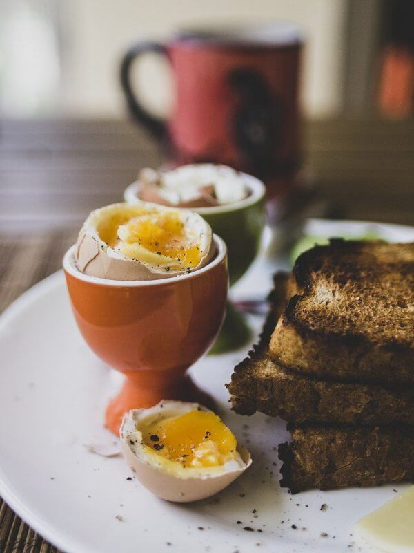breakfast, eggs, healthy